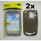 Atacado Lote 2x Capa Silicone Nokia Asha 205 Preto Fumê