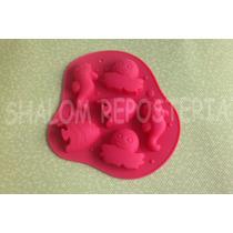 *molde Silicon Mar 6 Caballitos Peces Pulpo Jabon Fondant*