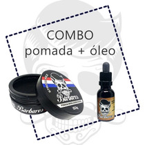 Kit Barbearia - Óleo Para Barba E Pomada Modeladora