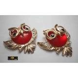 Coruja Piercing Chinelo Havaiana Aplique - Vermelho - 1 Par
