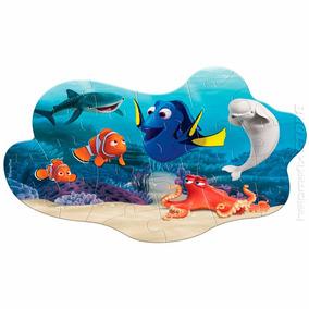 Quebra Cabeça Puzzle Madeira Procurando Dory Nemo 30 Peças