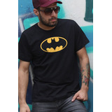 Camiseta Batman Simbolo Oficial Geeks Nerds