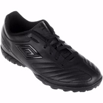 Chuteira Society Umbro Attak All Black Of71033 Original +nf