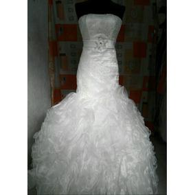 Vestido De Novia,color Ivory, Corte Sirena.
