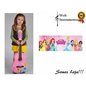 Violão Infantil Disney Princesas Phoenix 1/2 Vip-1 + Capa