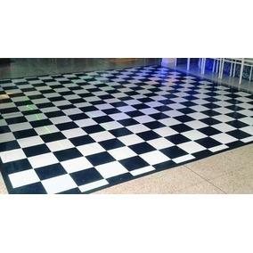 Tapete Xadrez 4x4m 16m² Piso Quadriculado Dj Festa Pìso