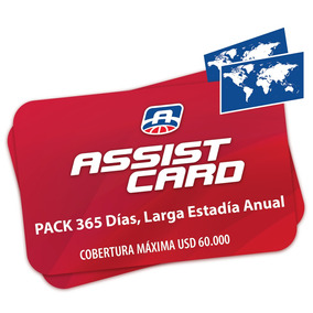Pack 365 Días, Larga Estadía Anual - Asistencia 60.000 Usd