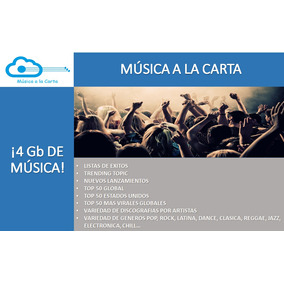 Música A La Carta, Ipod, Pendrive O La Nube (4 Gigas) Mp3