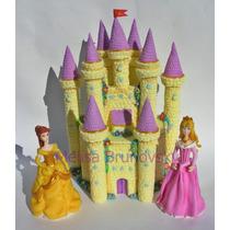 2 Princesas Disney+castillo, Adorno Detorta, Porcelana Fría