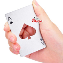 Souvenir Original Destapador Abridor Carta Poker Metal Naipe