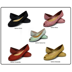 25 Pares De Sapatilhas I Love Shoes Glitter Flocadas