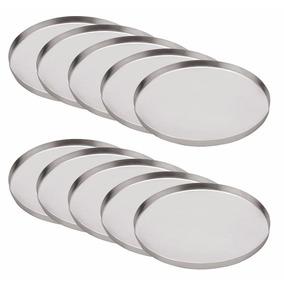 Kit 10 Fôrmas Para Mini Pizzas-forminhas Em Alumínio 11,5