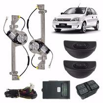Kit Vidro Eletrico Corsa Novo/sedan 4p Traseiro Sensorizado