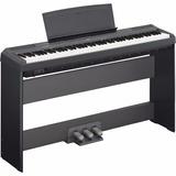 Kit Piano Yamaha P115 88 Teclas + Fonte + Mesa L85 +3 Pedais