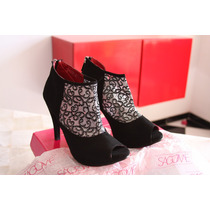 Zapatos De Moda De Tacón Rojo O Negro