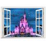 Castillo De Princesa De La Tierra De Disney 3d Ventana Pare