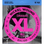Encordado Guitarra Eléctrica Daddario .009 Exl120 Leomusic
