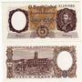 Billete 5 Pesos Moneda Nacional Serie A Año1960 Excelente