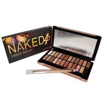 Paleta De Sombra Naked 4 + Pincel Pronta Entrega