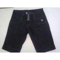 Bermuda Jeans Feminina Preta Linda Z Muito Barata - Tam. 38