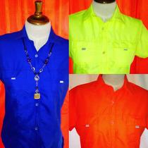 Camisas Tipo Columbia Uniformes Dama Caballero Bordados