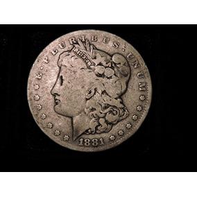 Estados Unidos Morgan Dolar 1881 S Plata 900 27 Grs Eeuu Usa