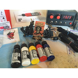 Kit Para Tatuar Tattoo 2maquinas Fte.doble 5 Solid Ink Nuevo
