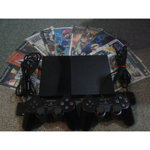 Playstation 2 Slim, 1 Joystick Y Jueguitos De Regalo