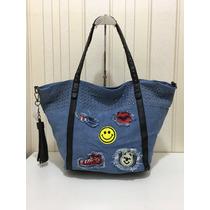 Bolsa Feminina Shopping Bag De Jeans Novidade