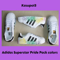 Kp3 Zapatos Adidas Superstar Pride Pack Colors Niños 25-35