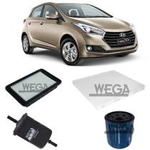 Kit Filtros Troca De Oleo Hyundai Hb 20 1.0 2012 Em Diante