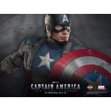 Placa Poster Decorativo Metal #29 30x20cms Capitan America