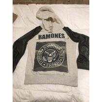 Buzo The Ramones 47 Street, Con Mandas De Cuerina Fina !!