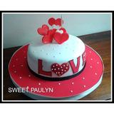 Combo Torta Corazones Enamorados 2.5 K +12 Cupcakes Grandes