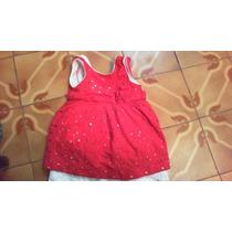 Vestido De Nina Hasta Los 3 Anos (96 Cm) Rojo Y Blanco