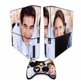 Adesivo Skin Xbox 360 Super Slim 2 Controles Personalize