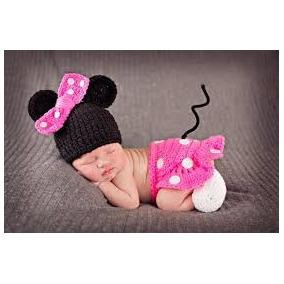 Conjunto Tejido A Crochet Mimi Minie 0-12 Meses Bebes