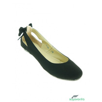 Ballerina Economico Ante Negro Marca Anel De Baez