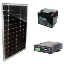 Panel Solar, Bateria Agm, Poe Para Equipos Ubiquiti