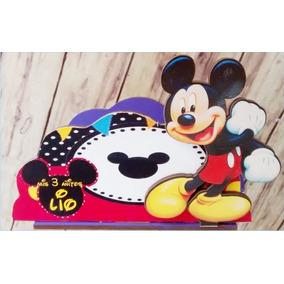 Servilleteros Souvenirs Mickey Mouse X6 Unidades