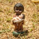 Imagem Estatua São Benedito Criança + Brinde
