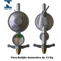 Registro Regulador Válvula De Gás Para Botijão Manômetro