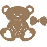 Aplique De Parede Mdf Cru Ursa Com Laço 60 Cm Festas-quarto
