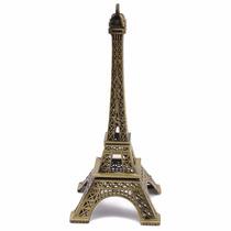 Souvenir Torre París Francia 18 Cm Metal Pack 10 Unidades