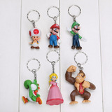 Chaveiros Super Mario Bross Kit Com 6 Personagens Diferentes