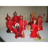 Ya Llega Hallowen Brujas En Porcelana Fria 20 Cm. De Al