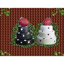 Adornos Recuedo Regalo Mini Torta Porcelana Fria 3 Pisos