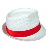 Chapéu Panamá Carioca Nº58 Fita Vermelha Verde Azul Ou Preta