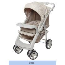 Carrinho De Bebê Berço Passeio Optimus Bege Galzerano