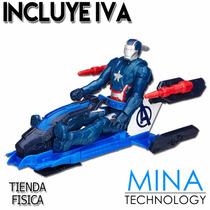 Figura De Accion Iron Man Patriota Con Vehiculo Marvel B0431